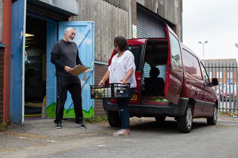Community volunteers sending out food parcels, St Helens.