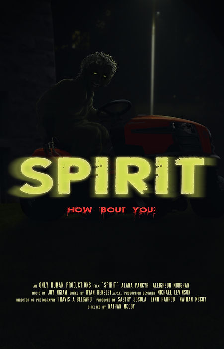 Spirit movie poster, project in development by Only Human Productions.