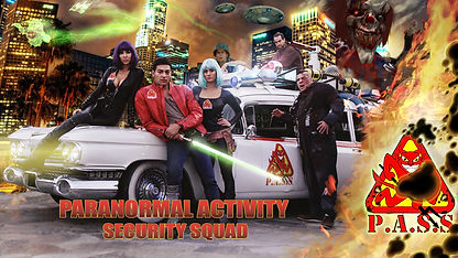Paranormal Activity Security Squad group photo.