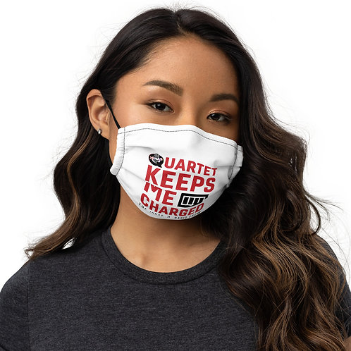 Quartet Keeps me Charged Premium face mask