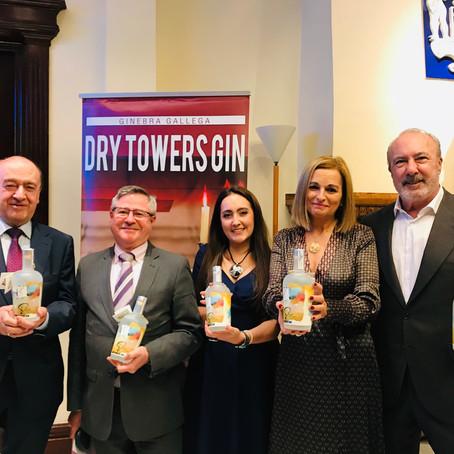 Presentación de Galician Dry Towers Gin Premium