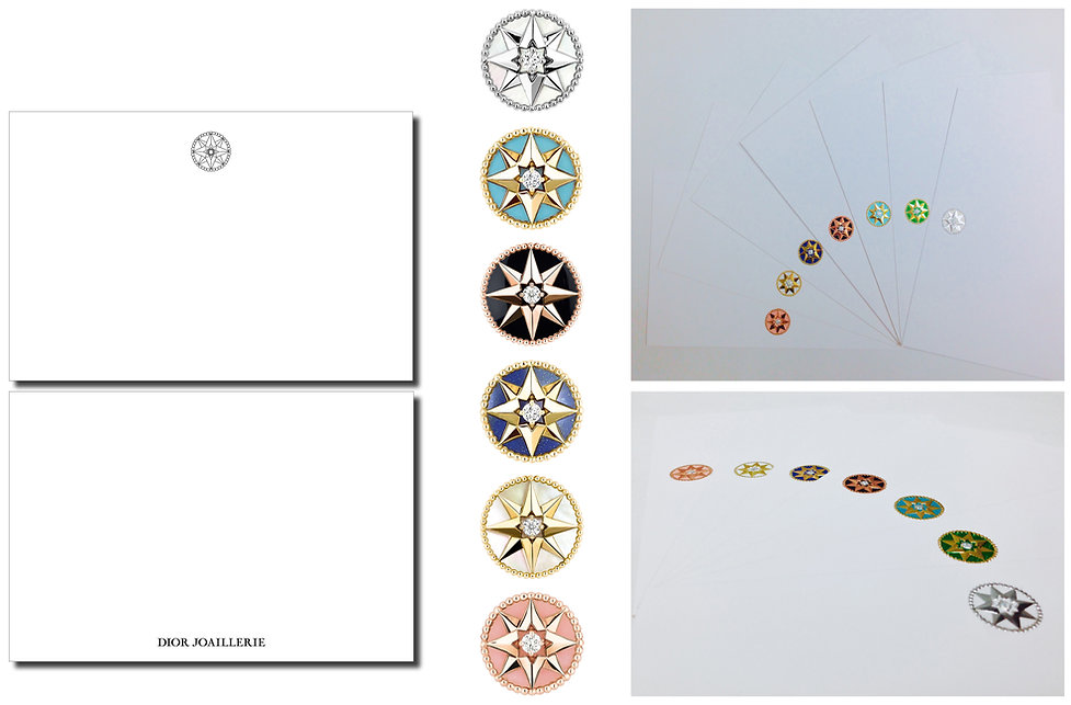 Christian Dior Joaillerie Rose des Vents Hong Kong Product Graphic Designer Creative Design