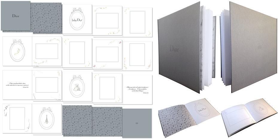 Baby Christian Dior Book Leaflet Graphic Charter Designer Design Hong Kong Creative Artwork Fashion Photo Album