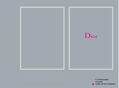 Christian Dior Cardboard Folder Graphic Designer Design Hong Kong Artwork
