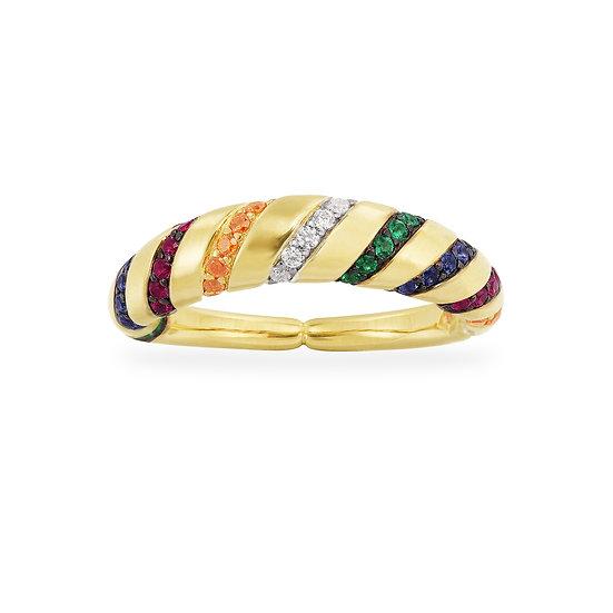 APM Monaco - Thick Straps Ring