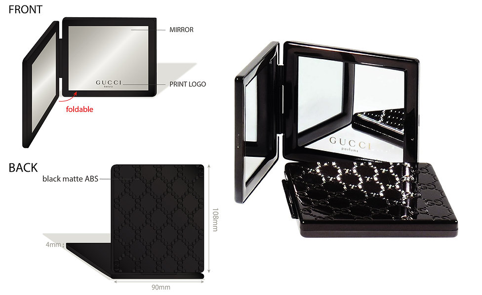 Gucci Mirror Case Cosmetic Makeup Hong Kong Product Designer