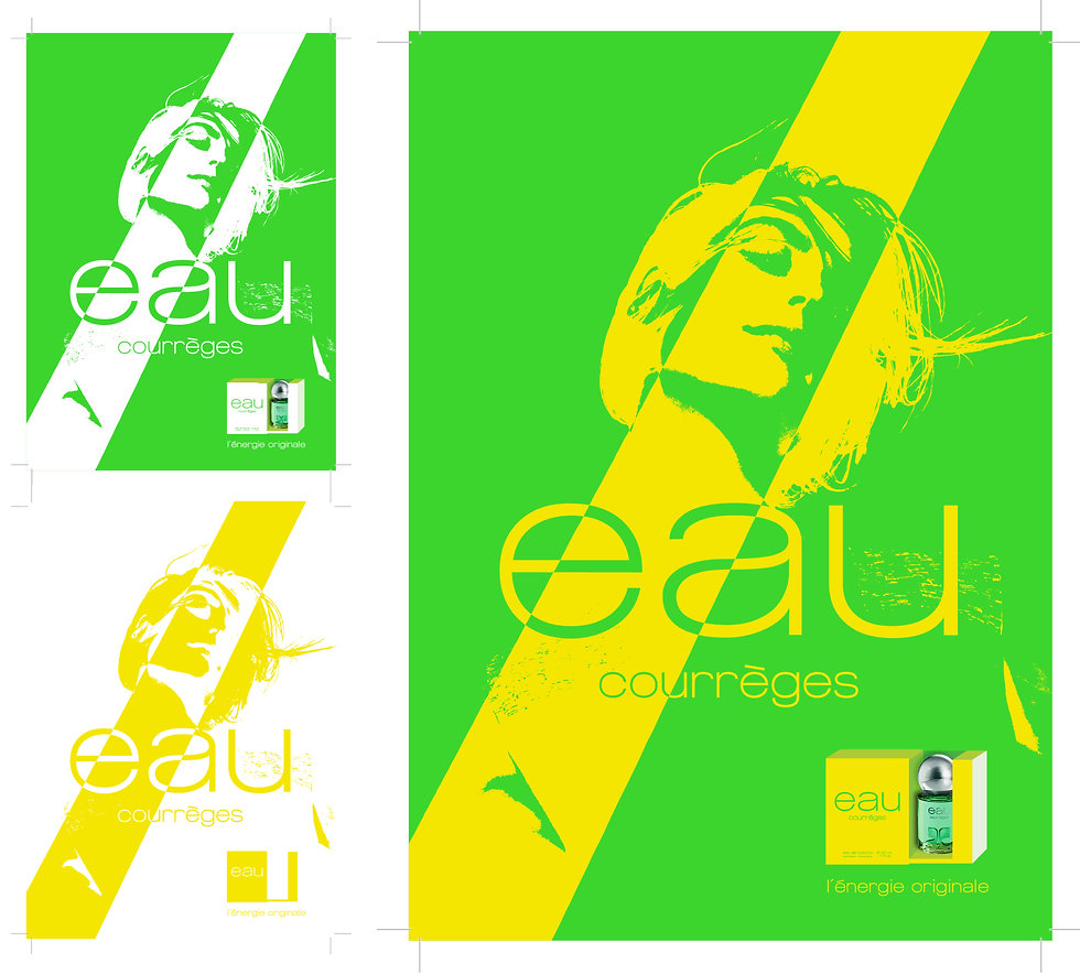 Eau de Parfum Courrèges Advertisement Graphic Designer Design Perfume Fragrance Hong Kong