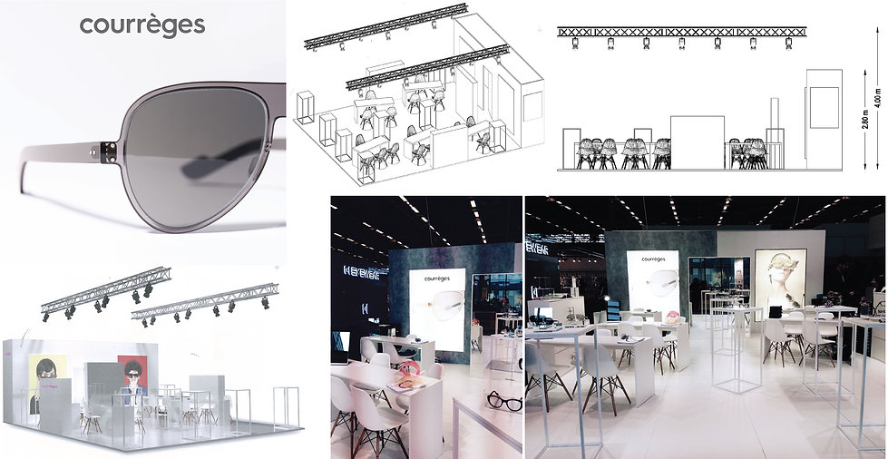 Eyewear Stand SILMO Courrèges Hong Kong Interior Designer Architecture Architect Creative Event 3D Design