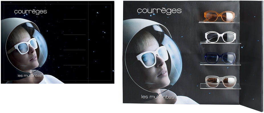 Courrèges Sunglasses Glasses Display POS Point of Sale Product Graphic Designer Visual Merchandising Hong Kong