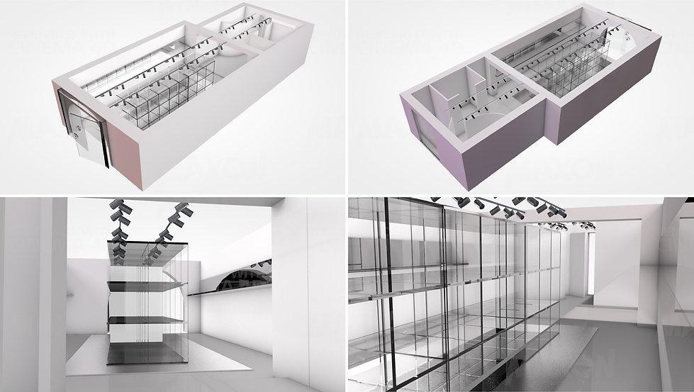 Concept Store Courrèges Hong Kong Interior Designer Architecture Architect Creative 3D Design
