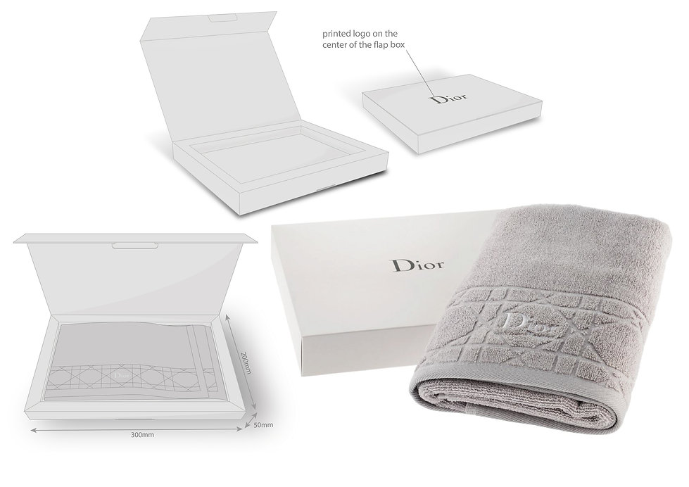 Christian Dior Towel Packaging Hong Kong Product Designer