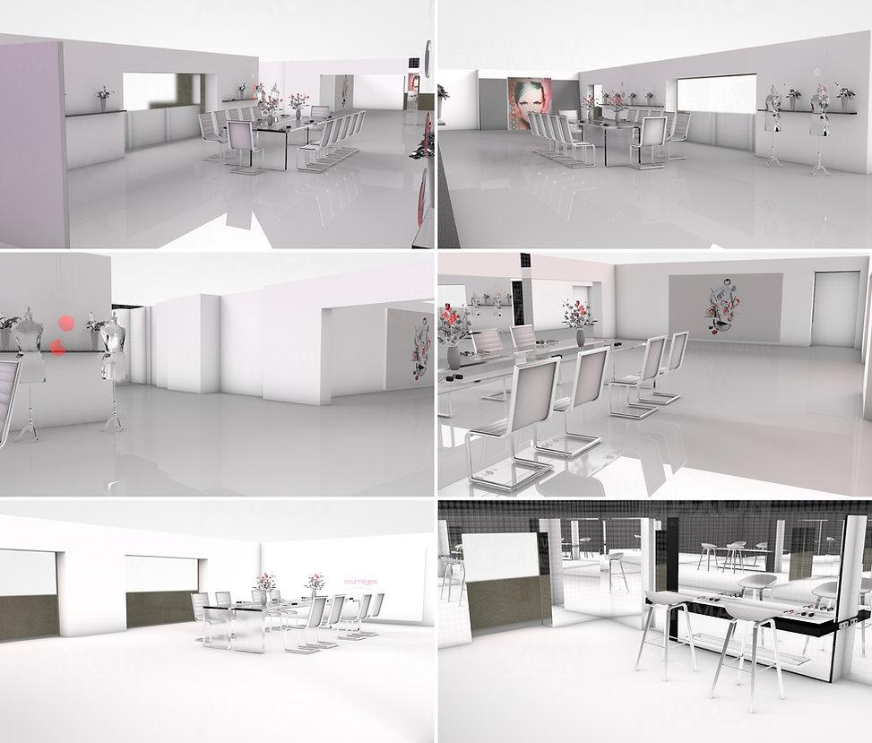Estée Lauder Courrèges Hong Kong Interior Designer Architecture Architect Creative Event Party 3D design
