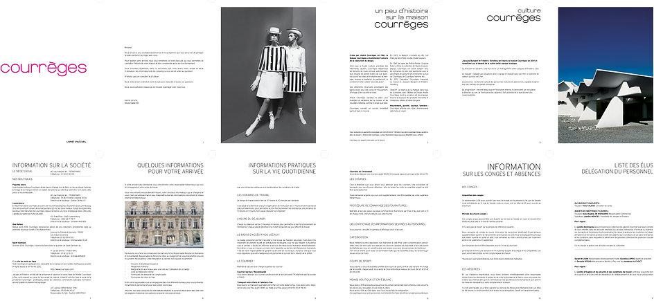 Courrèges Book Leaflet Graphic charter Designer Design Hong Kong Creative Artwork Fashion