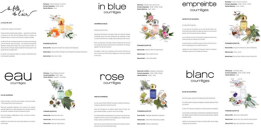 Courrèges Leaflet Graphic Designer Design Hong Kong Creative Artwork Perfume Fragrance