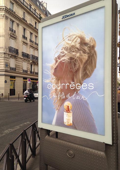 Courrèges Fille de l'Air JCDecaux Advertisement Graphic Designer Design Hong Kong Creative Fragrance Perfume