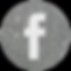 silver round social media icon facebook.
