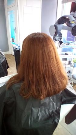 before hair cut at Passion Salon