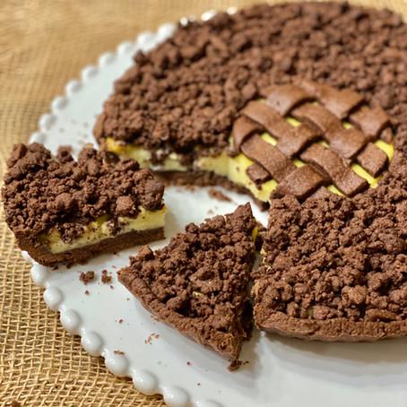 Sbriciolata al Cacao con Crema alla Vaniglia