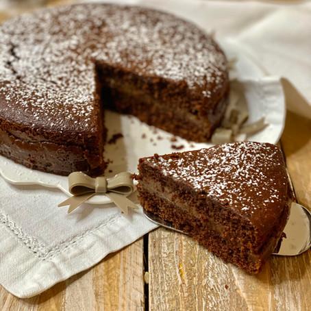 Torta Versata al Cioccolato (con Crema alla Nutella)