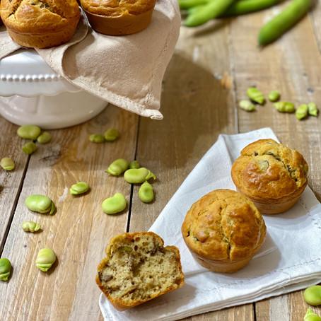 Muffin Salati Fave e Pecorino