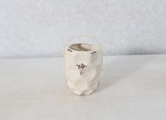 Vaso Offwhite Cerâmica