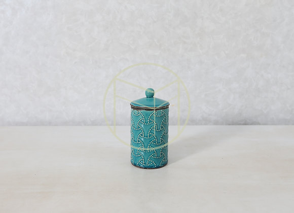 Pote Turquesa Redondo Cerâmica
