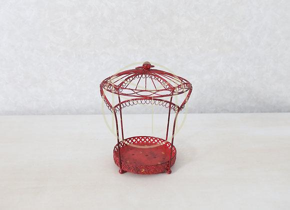 Gaiola Metal Vermelha
