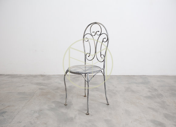 Cadeira Ferro Arabesco Offwhite