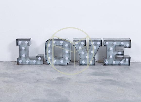 Luminária LOVE Metal (4 peças) - 40 lâmpadas led bivolt