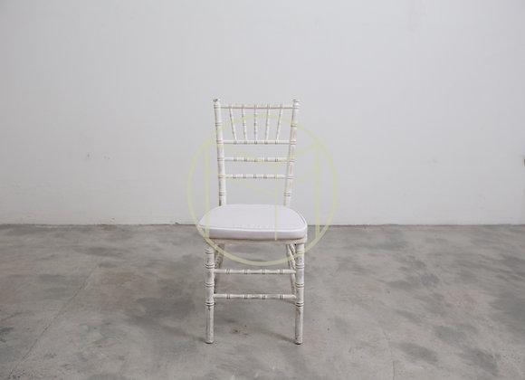 Cadeira Tiffany em madeira cor Branca Rústica