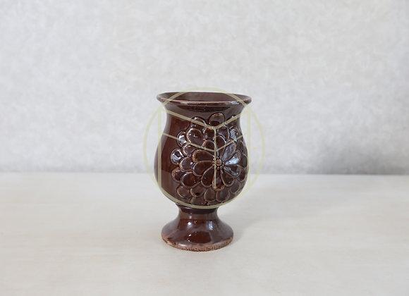Vaso Beringela Cerâmica Grande