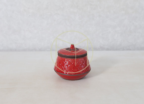 Pote Vermelho Redondo Cerâmica