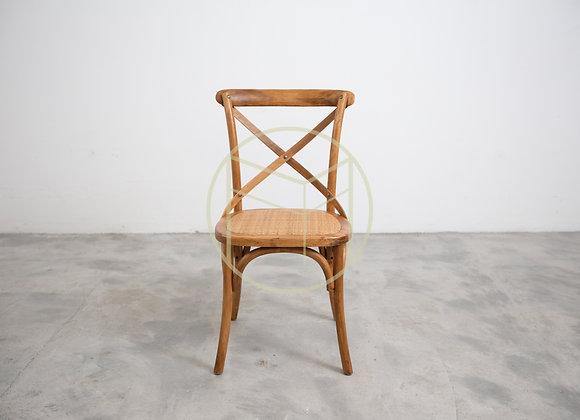 Cadeira Paris em Madeira Bétula e assento em rattan natural