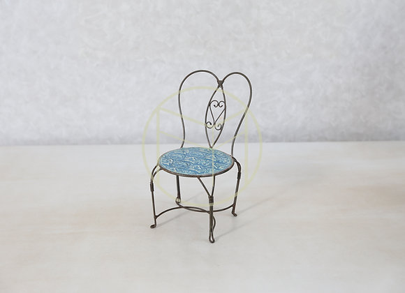 Cadeira Mini Ferro Azul