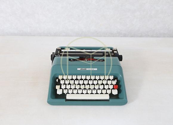 Máquina Escrever Olivetti Antiga Verde