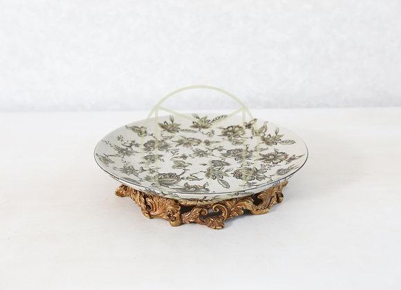 Prato Baixo Chinês Floral
