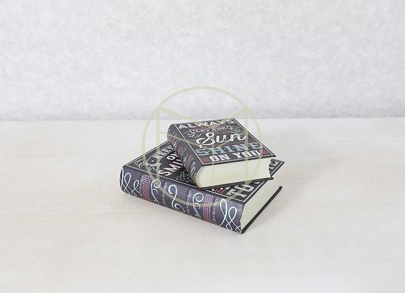 Livros Quadro de Giz Preto (jogo com 2)