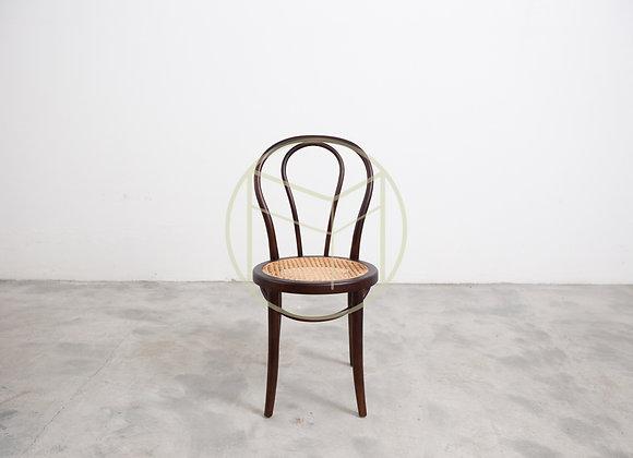 Cadeira Antiga Thonet Palhinha Madeira Tabaco