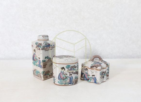 Pote Porcelana Chinesa (jogo com 3)