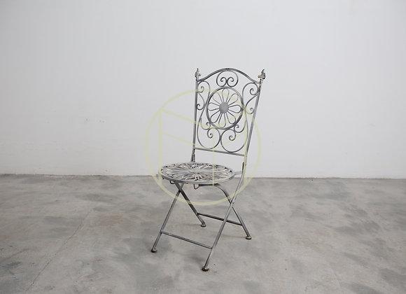 Cadeira Ferro Dobrável Offwhite