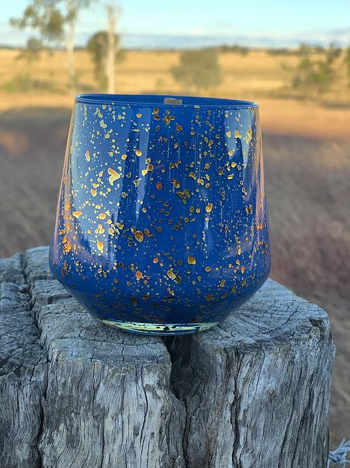 Blue Speckle Jar