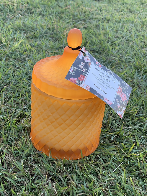 Orange Elegance Pumpkin Roll Candle
