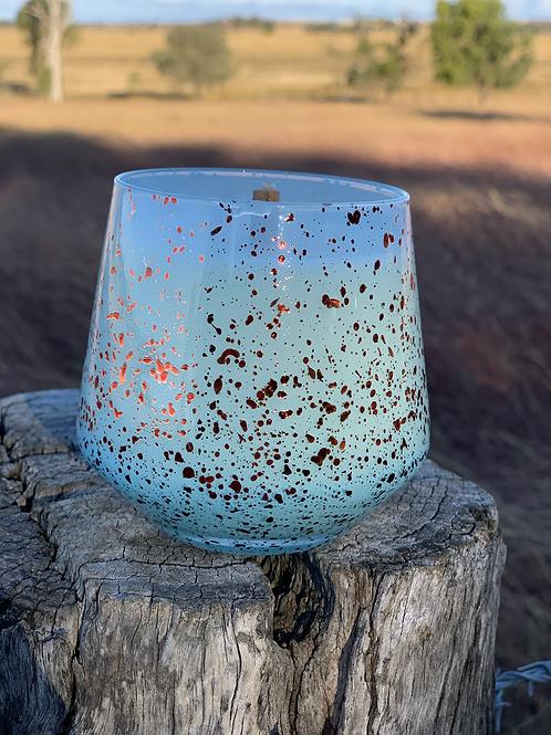 Sky Blue Speckle Jar