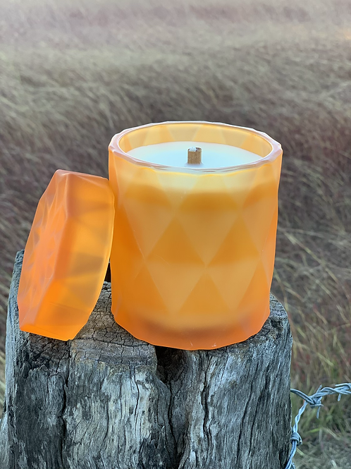 Pumpkin Geo Jar