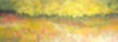 painting of alberta lake and sky
