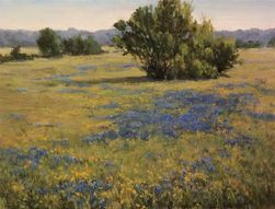 Ellisor painting titled Spring Pasture