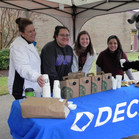 DECA Club members with Lisa Bowden and V