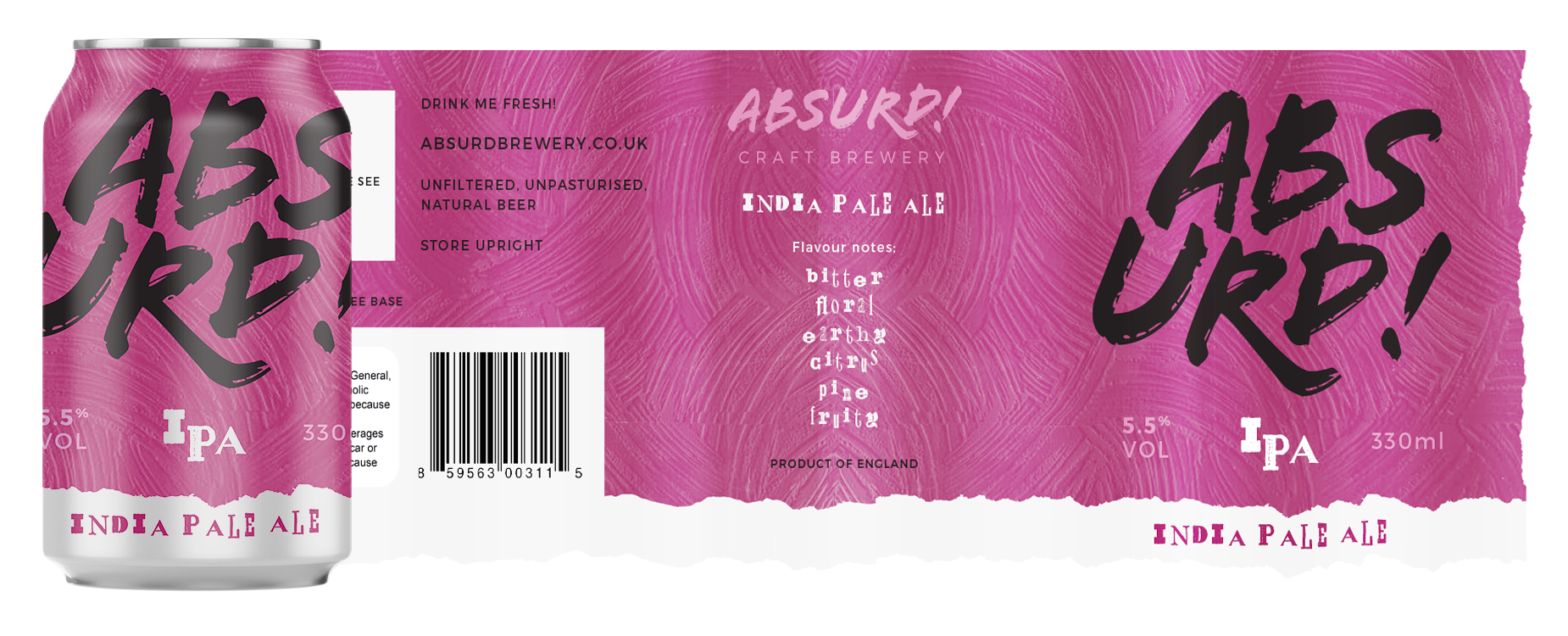 Absurd! IPA Label