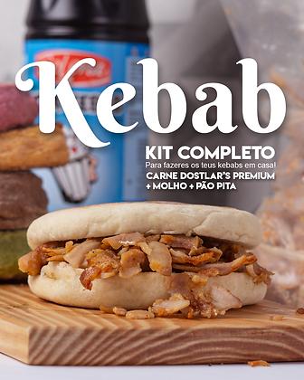 Kit Kebab! Carne Dostlar's Premium +Molho Pita + Pão Pita