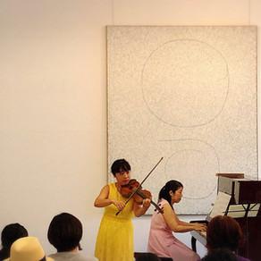 【イベントレポート】~絵画空間で聴く~  バイオリンとピアノのクラシックコンサート
